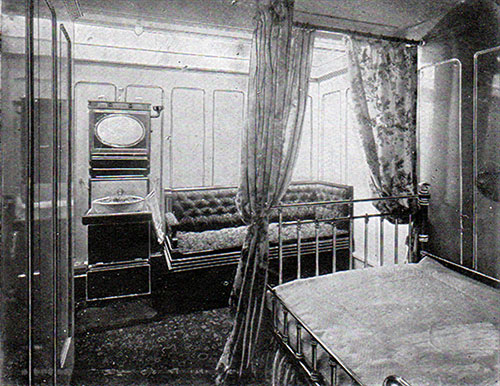 Promenade Deck First Class Stateroom on the RMS Romanic.