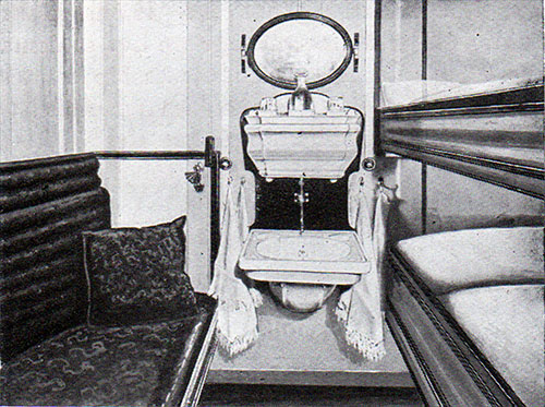 Second Class Stateroom on the RMS Romanic.