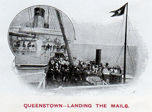 Landing the Mails at Queenstown (Cobh) circa 1907.
