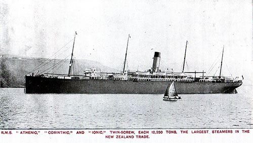 RMS Athenic, Corinthic, and Ionic, Twin-Screw, Each 12,250 Tons.