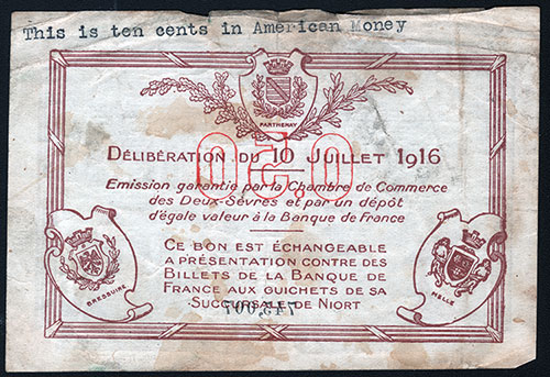 Cinquante Centimes 0.50 Back Side