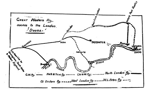 Great Western Railway Access to London Docks