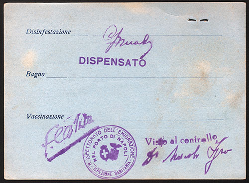 Vaccination Certificate 1930
