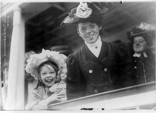 One of the 1,000 Marriageable Girls on the RMS Baltic Destined for Ellis Island. 1907