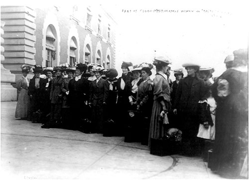 Portion of the 1,000 Marriageable Women from the RMS Baltic, 27 September 1909.
