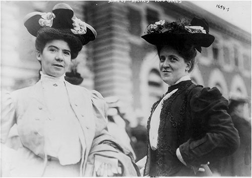 "Two More of the ""Baltic's"" 1,000 Girls at Ellis Island. 1907"