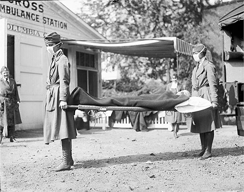 Demonstration at the Red Cross Emergency Ambulance Station in Washington, D.C.