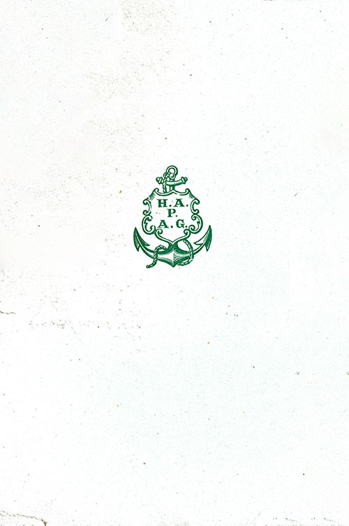 Green HAPAG Logo on Back Side of Menu Card, 2 March 1902