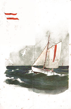 Front Cover, SS Bergensfjord Daily Bill of Fare - 1 September 1936