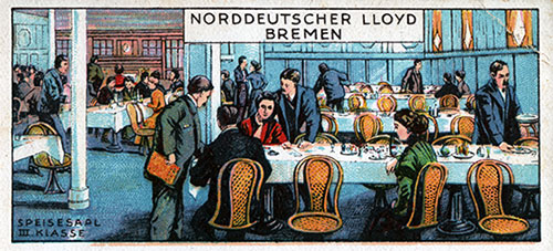 Daily Bill of Fare Illustrations from Norddeutscher Lloyd Bremen