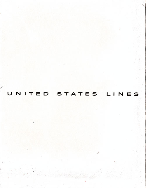 Menu Cover, Captain's Dinner Menu, SS America, United States Lines, August 1954