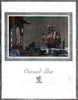 Front Cover, RMS Berengaria Dinner Menu - 17 July 1929