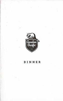 Front Cover, SS Empress of France Dinner Menu - 5 August 1949