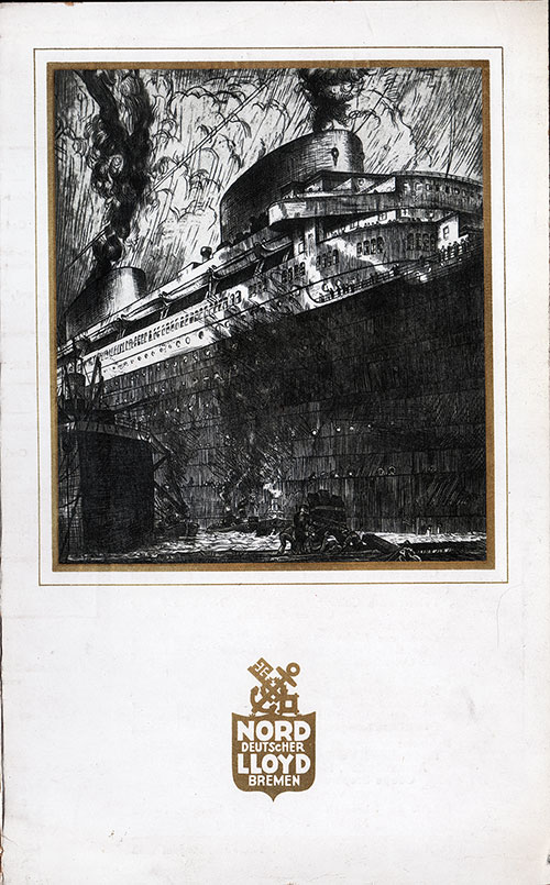 Front Cover, SS Europa Dinner Menu - 15 June 1932