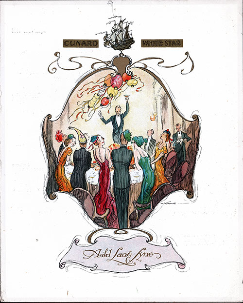 Front Cover, SS Georgic Farewell Dinner Menu 20 April 1935