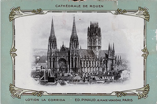 The Cathédrale de Rouen Illustrates the Back Cover of This Vintage Farewell Dinner Menu From 26 April 1907