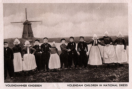 Volendam Children in National Dress