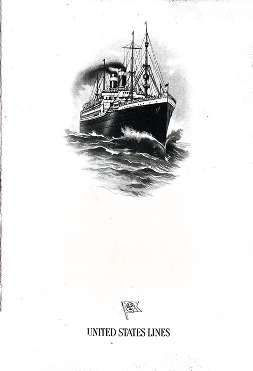 Front Cover, SS President Arthur Dinner Menu - 23 October 1923