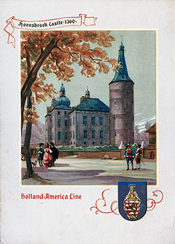 Menu Cover, Dinner Menu, SS Veendam, Holland-America Line, 23 July 1948