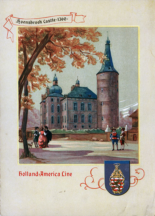 Menu Cover, Dinner Menu, S.S. Veendam, Holland-America Line, 23 July 1948