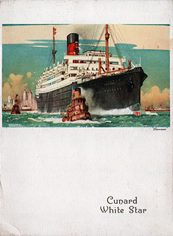Kosher Luncheon Menu, R.M.S. Aquitania, Cunard Line, 8 July 1936