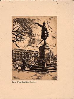 Front Cover, SS Drottningholm Luncheon Bill of Fare 27 May 1946
