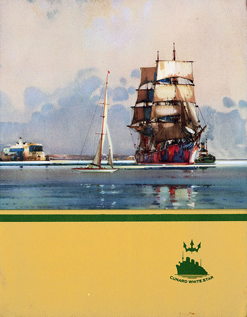 Front Cover, RMS Franconia Luncheon Menu - 20 August 1938