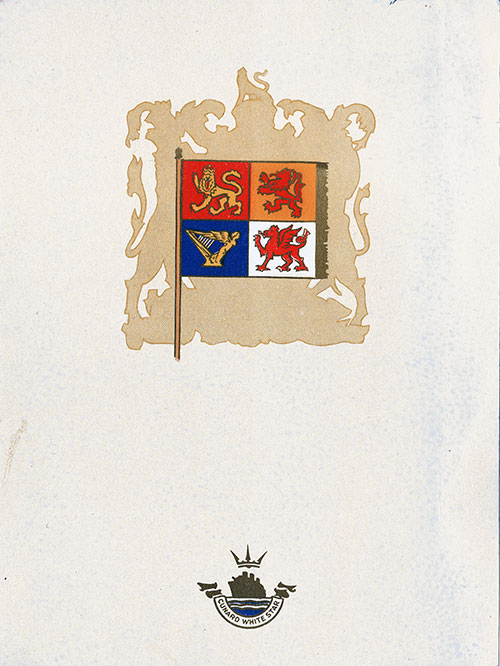 Front Cover, RMS Franconia Luncheon Menu - 21 August 1938