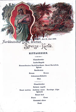 Menu Card, Lahn-1900-06-15-LuncheonMenuCard