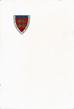 Front Cover, SS Normandie Luncheon Menu - 8 June 1936