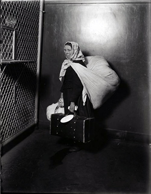 A Slavic Immigrant Woman at Ellis Island in 1905.