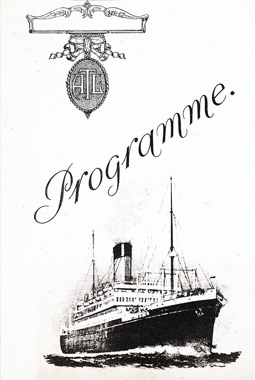 Front Cover, Programme of Music for the Marious B. Winter's Band on Board an Atlantic Transport Line Steamship.