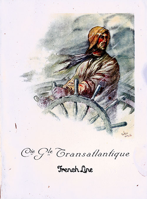 Front Cover, CGT French Line SS Ile de Frence Charity Gala Concert, 22 February 1931.