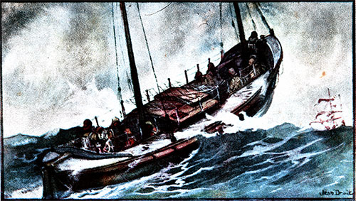 Central Lifeboat Society, Painting by Jean Droit, CGT French Line SS Ile de Frence Charity Gala Concert, 22 February 1931.