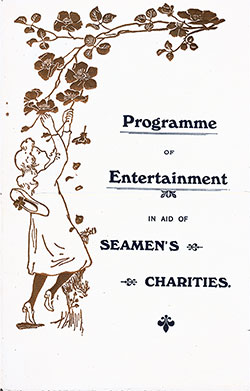 Front Cover, Entertainment Program in Aid of Seamen's Charities at Liverpool & New York 1911