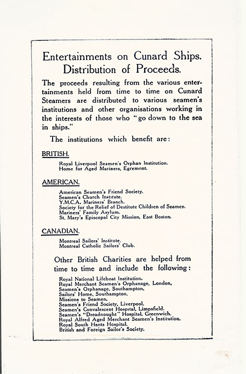 Distribution of Proceeds Thursday, 25 September 1930