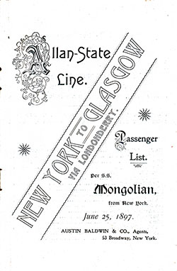 1897-06-25 Voyagge of the SS Mongolian