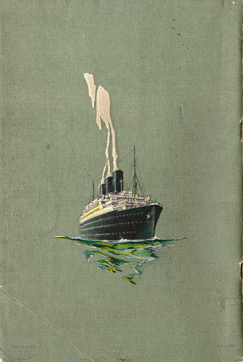 Back Cover, S.S. California Passenger List 24 May 1930