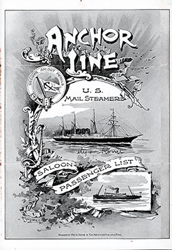 Passenger Manifest, City of Rome, Anchor Line 1896