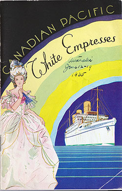 Front Cover, SS Empress of Australia Passenger List - 12 June 1935