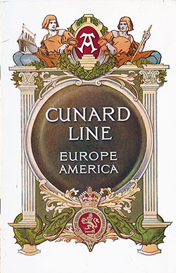 Front Cover, Cunard SS Carmania Saloon Passenger List - 29 July 1914.