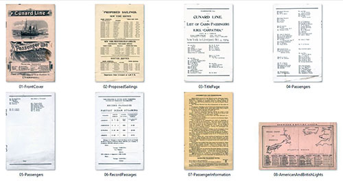 Images of the R.M.S. Carpathia Passenger List from 4 October 1904