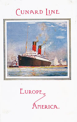 Front Cover, Cunard RMS Orduna Saloon and Second Cabin Passenger List - 17 March 1917.