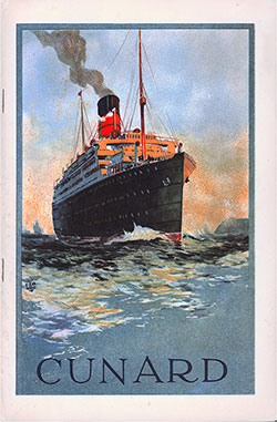 Front Cover, Cunard Line TSS Tuscania Tourist Third Class Passenger List - 10 July 1929.