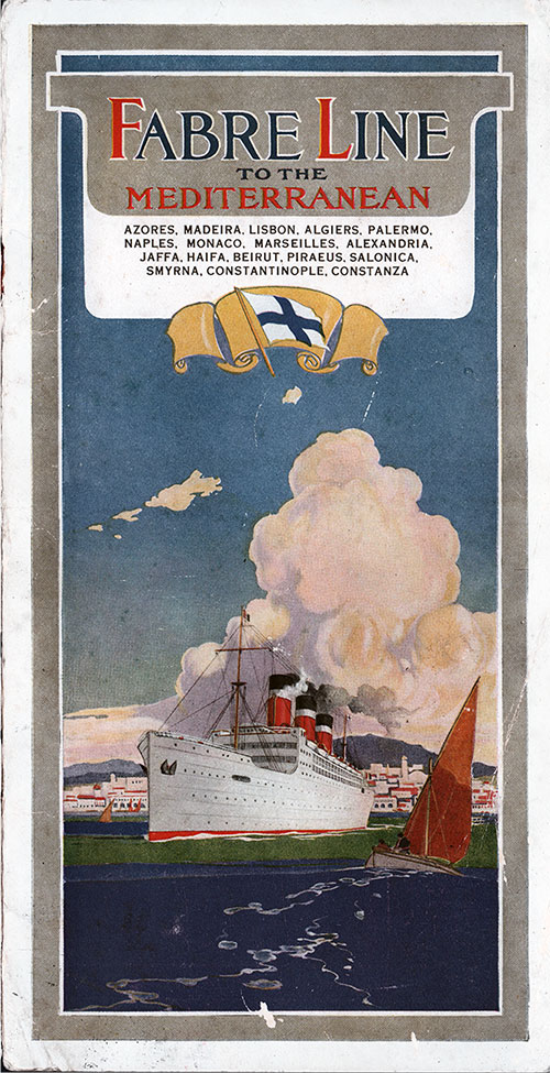 Front Cover, Fabre Line SS Alesia Cabin Class Passenger List - 19 June 1930.