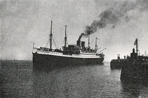S.S. Albert Ballin of the Hamburg-American Line, Departing from Cuxhaven