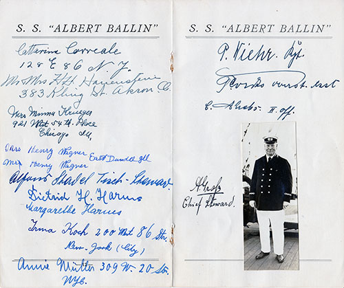 Centerfold of Autographs Collected During Voyage