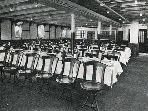 Third Class Dining Room on the S.S. Deutschland