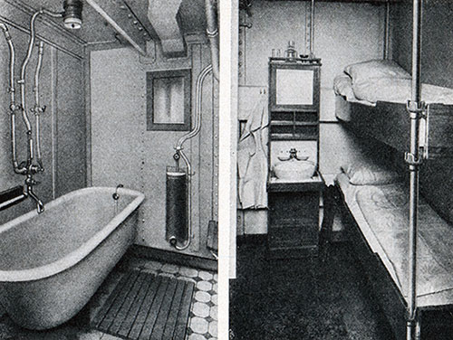 Third Class Bath and Stateroom