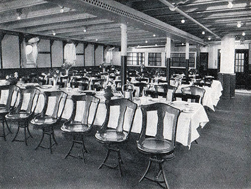 Photo 03 - Corner Of Third Class Dining Room On The S.S. New York